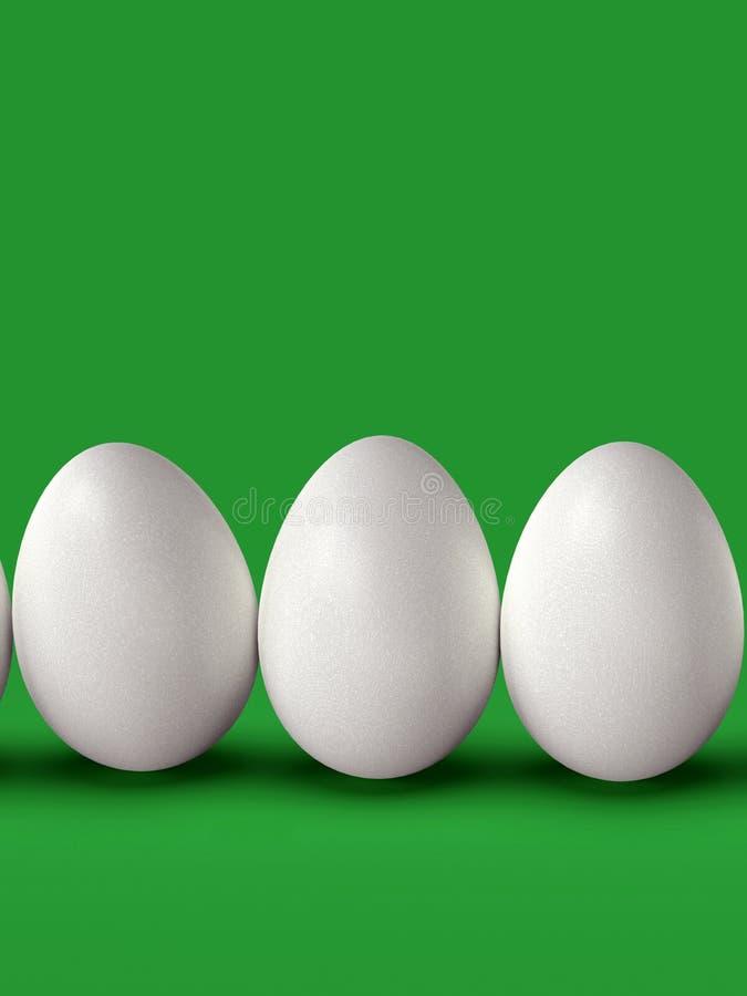 Huevos de Pascua como grupo, en fondo colorido stock de ilustración