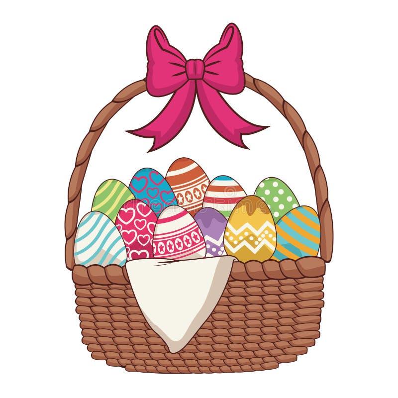 Huevos de Pascua con la cesta libre illustration