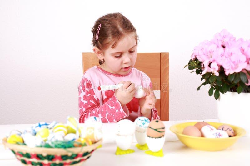 Huevos de Pascua de la pintura fotos de archivo libres de regalías