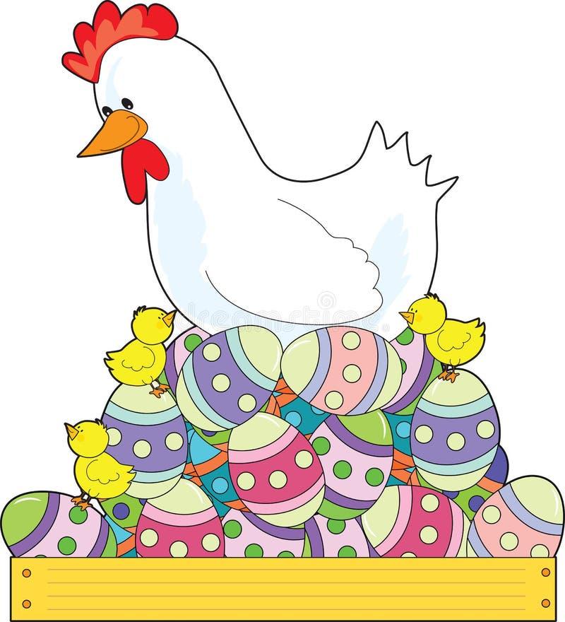 Huevos de Pascua del pollo stock de ilustración