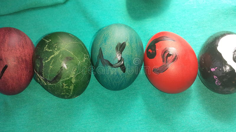 Huevos de Pascua del zodiaco fotografía de archivo libre de regalías