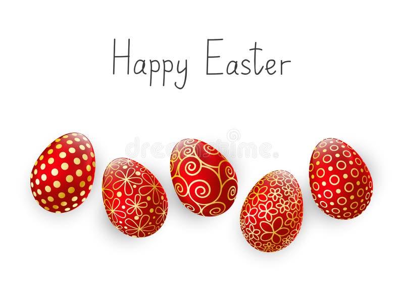 Huevos de Pascua en blanco libre illustration