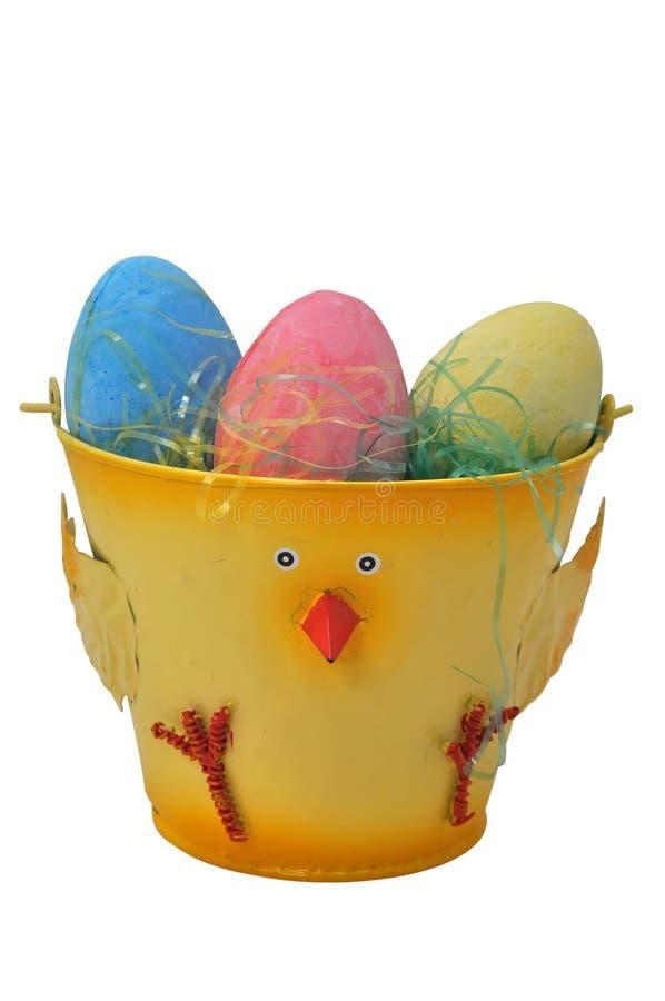 Huevos de Pascua en compartimiento fotografía de archivo libre de regalías