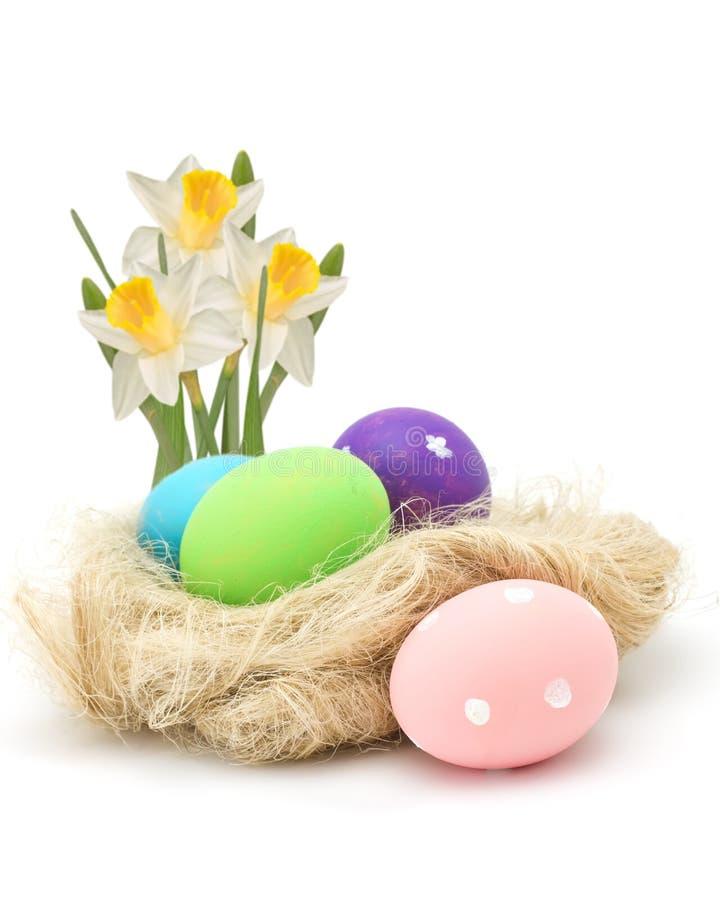 Huevos de Pascua en la jerarquía aislada en blanco imagen de archivo libre de regalías