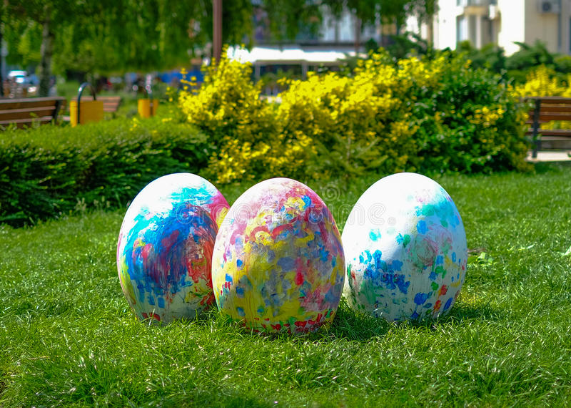 Huevos de Pascua gigantes fotografía de archivo libre de regalías