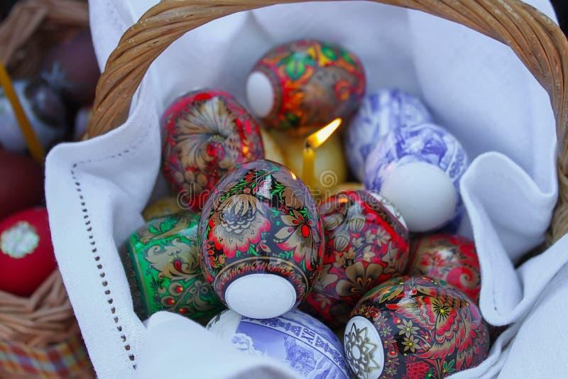 Huevos de Pascua hermosos fotos de archivo libres de regalías