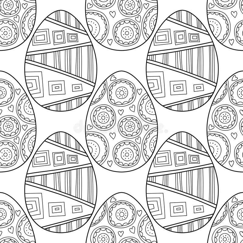 Huevos De Pascua Modelo Inconsútil Blanco Y Negro Para Los Libros De ...
