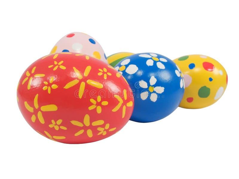 Huevos de Pascua pintados a mano imagenes de archivo