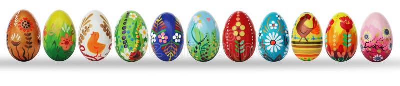 Huevos de Pascua pintados a mano aislados en blanco libre illustration