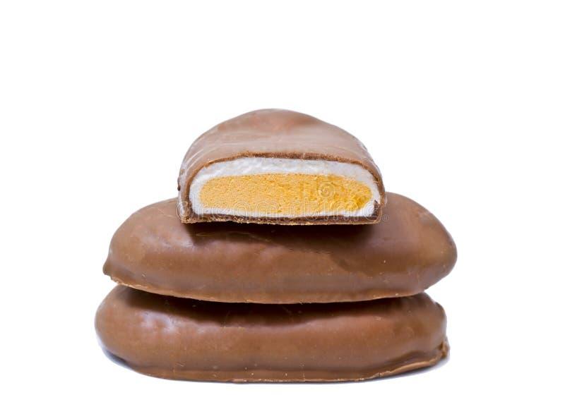 Huevos de Pascua recubiertos de chocolate de la melcocha imagen de archivo libre de regalías