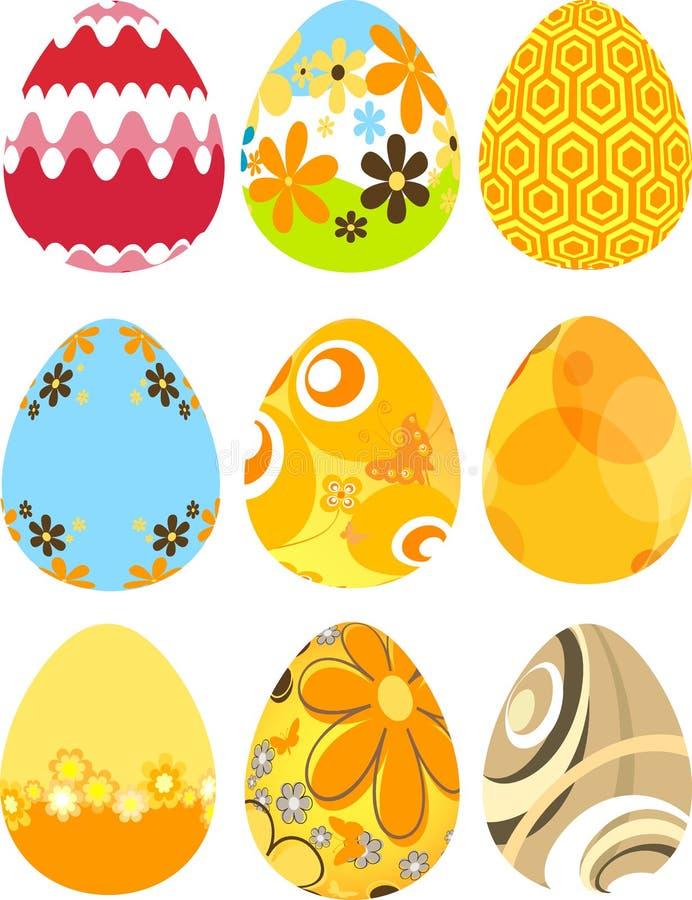 Huevos de Pascua retros ilustración del vector