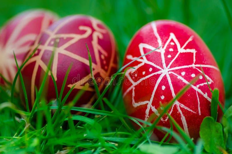 Huevos de Pascua, ¡s del tojà de Húsvéti foto de archivo