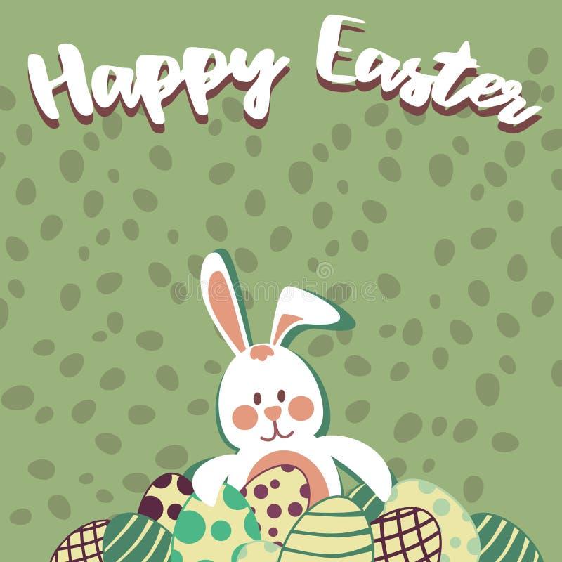 Huevos de Pascua y conejito de pascua foto de archivo