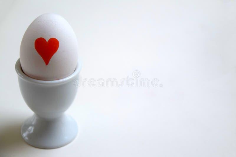Huevos del amor para el desayuno fotos de archivo