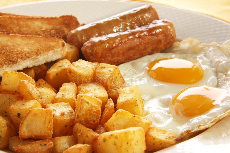 Huevos del desayuno fotos de archivo