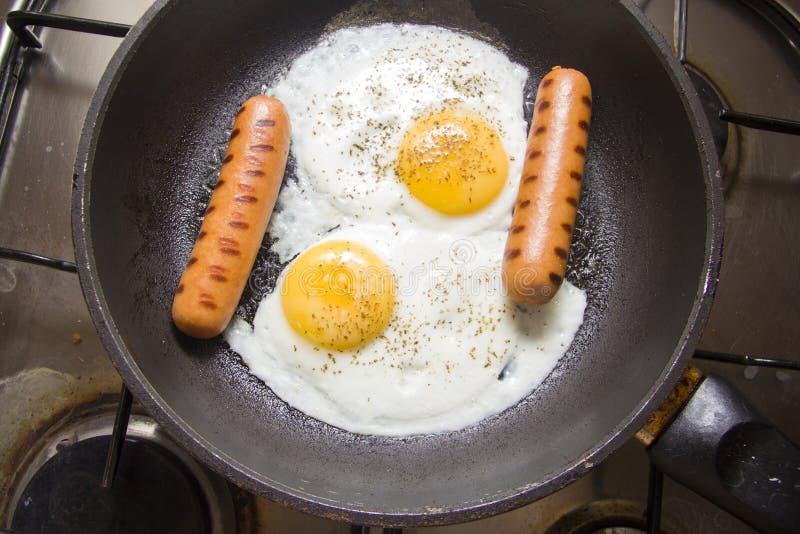 Huevos del pollo frito foto de archivo