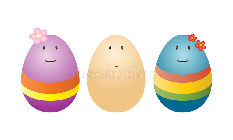 Huevos divertidos stock de ilustración