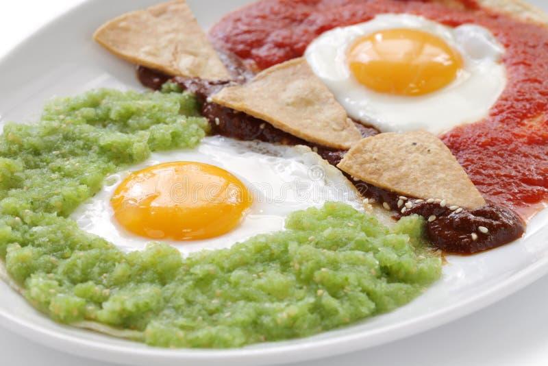 Huevos divorciados,墨西哥早餐 免版税库存照片
