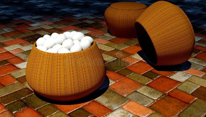 Huevos en cesta libre illustration