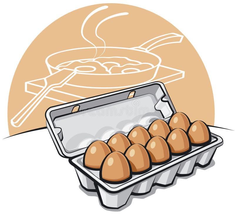 Huevos en el conjunto stock de ilustración