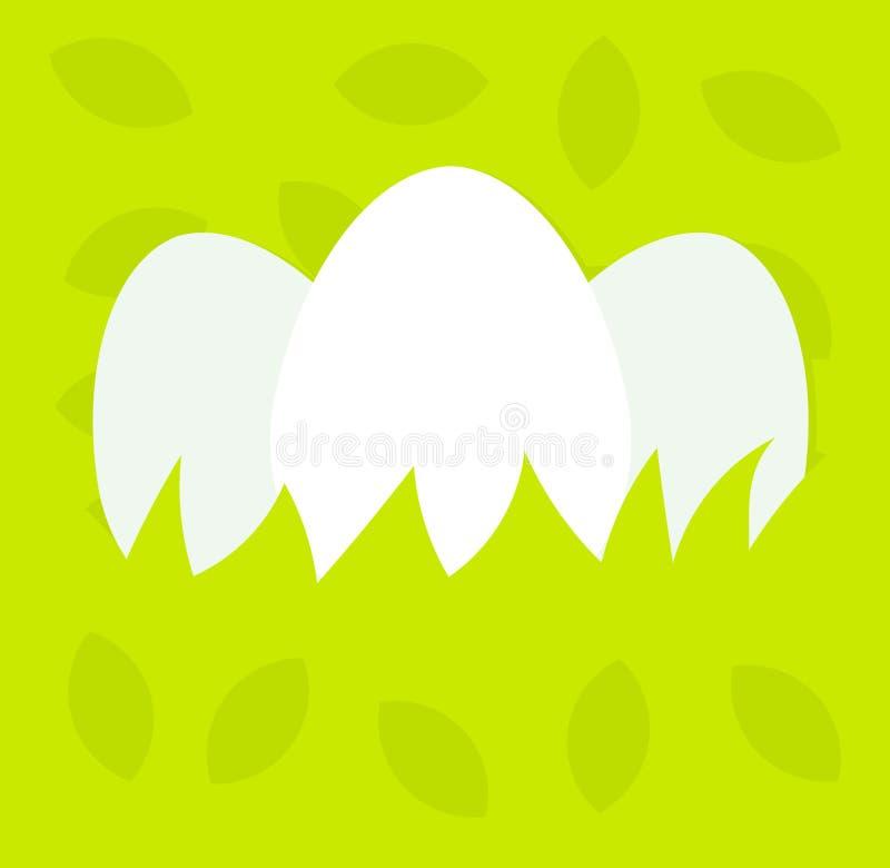 Huevos en el fondo de Pascua de la hierba stock de ilustración