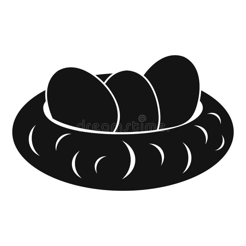 Huevos en el icono de la jerarquía, estilo simple stock de ilustración