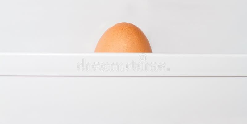 Huevos en el refrigerador fotografía de archivo