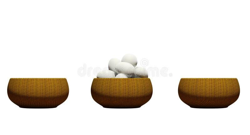 Huevos en una cesta stock de ilustración