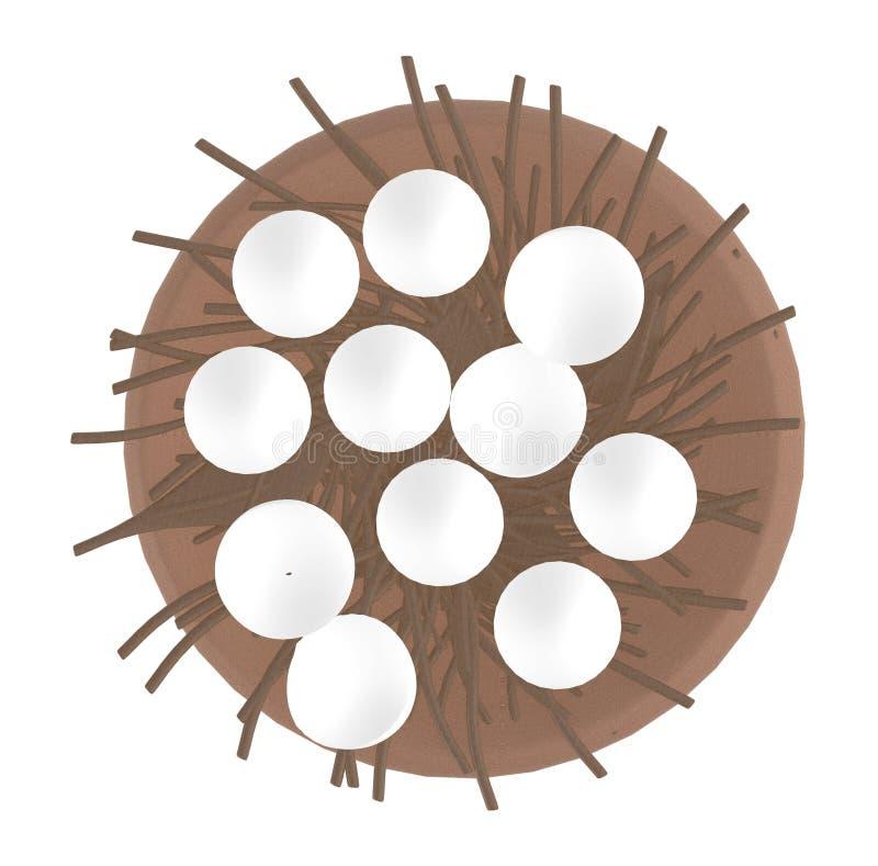 Huevos en una jerarquía stock de ilustración