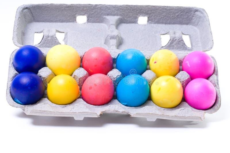 Huevos mexicanos coloridos de los docena confetis fotografía de archivo