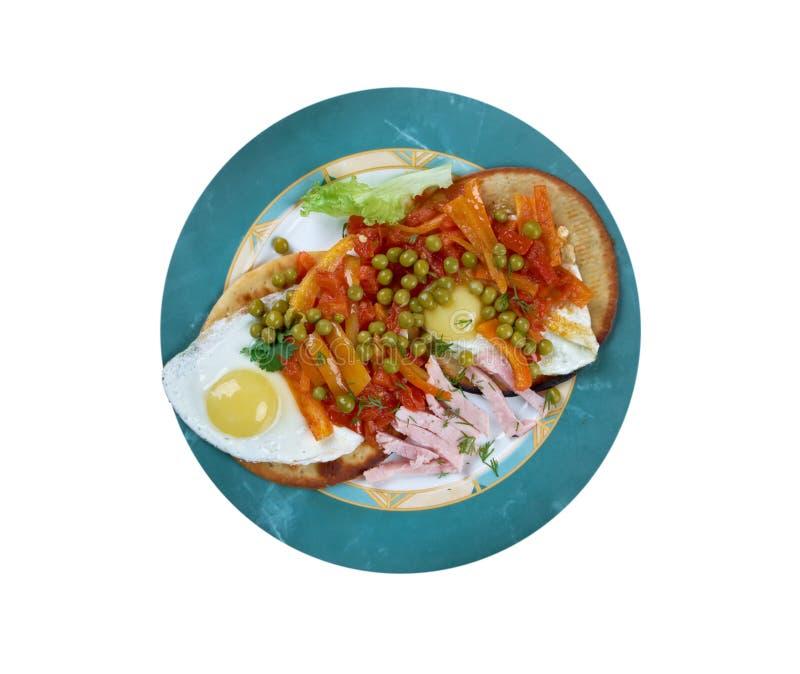 Huevos Motulenos 免版税图库摄影