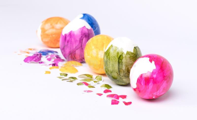 Huevos pintados, pascua imagen de archivo