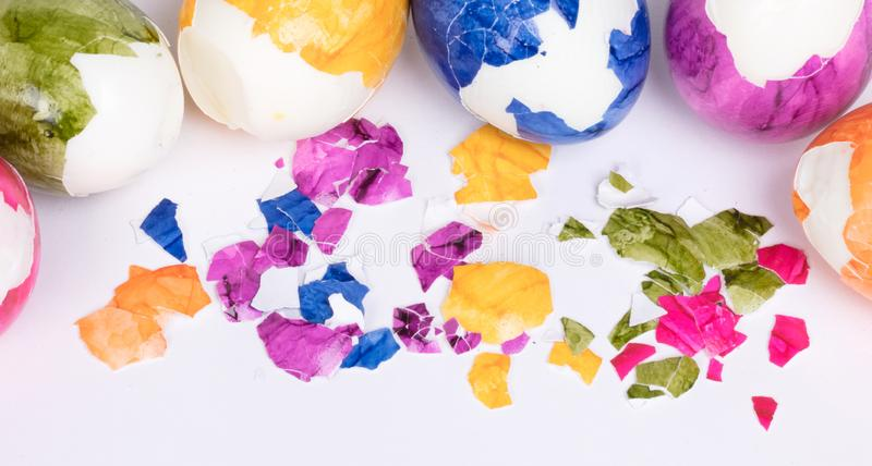 Huevos pintados, pascua foto de archivo