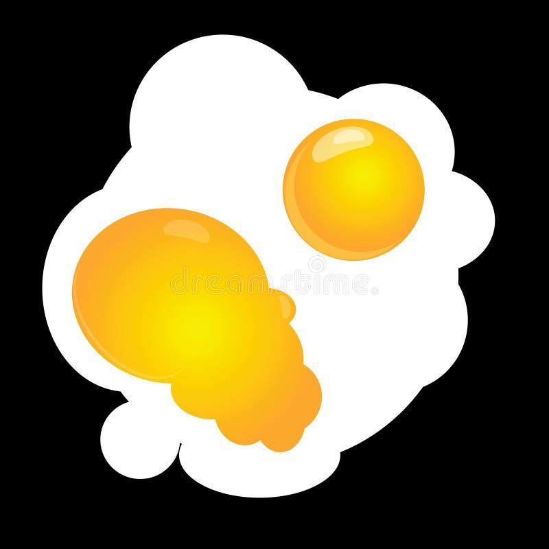 Huevos revueltos ilustración del vector