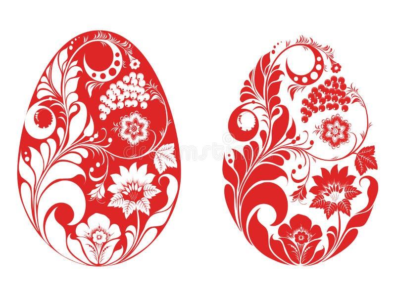Huevos rusos del estilo stock de ilustración