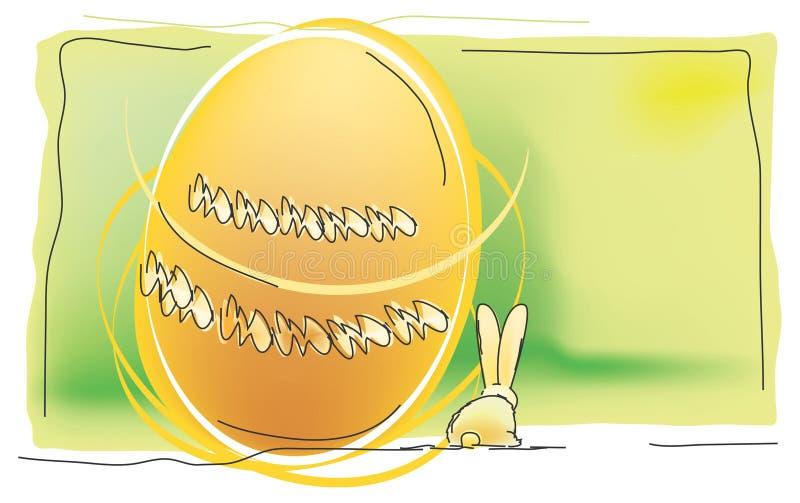 Huevos y conejo de Pascua libre illustration