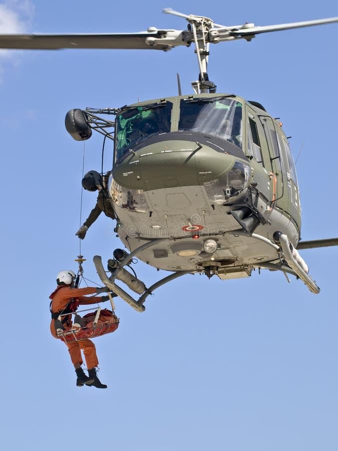 huey救伤直升机n uh1 免版税图库摄影