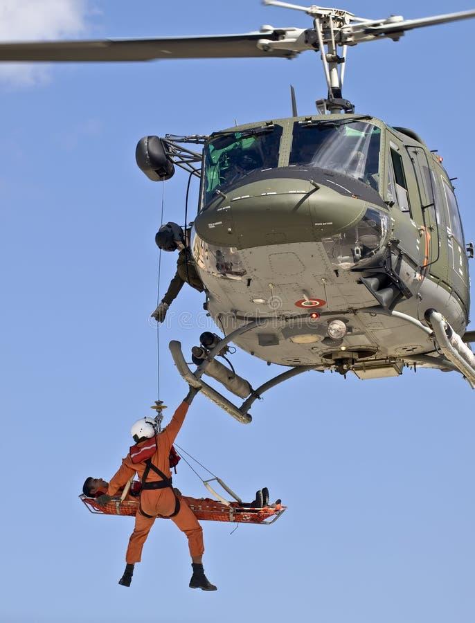huey救伤直升机n uh1 免版税库存照片