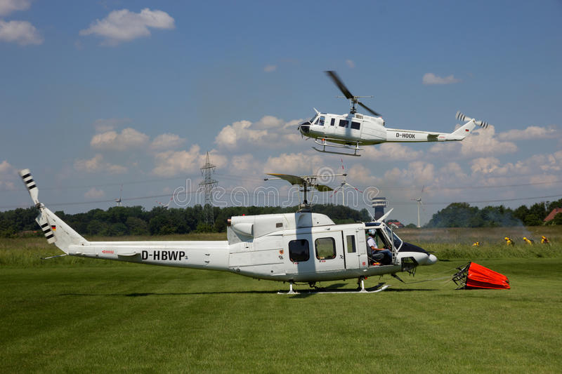 Huey helicopters royalty free stock image