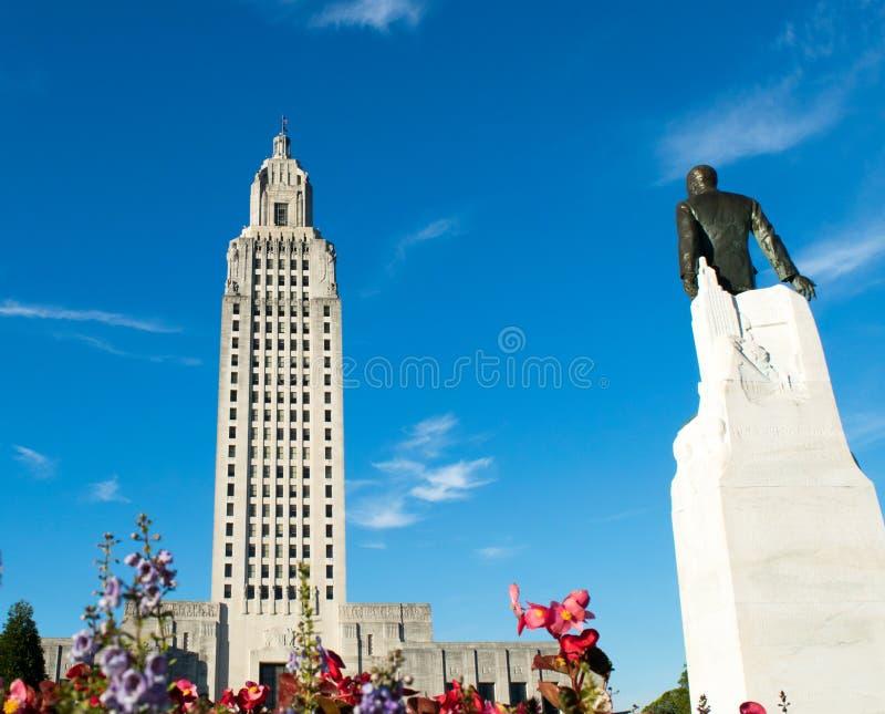 Huey p Длиной и здание капитолия положения Луизианы стоковые фотографии rf