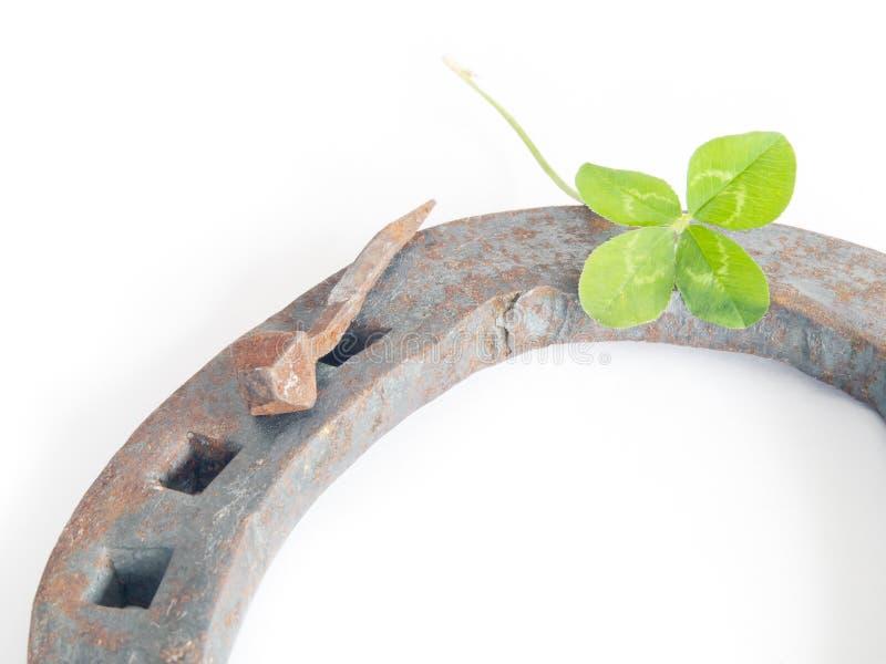 Download Hufeisen mit Klee stockbild. Bild von grün, vier, hufeisen - 27729841