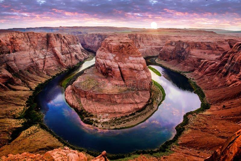 Hufeisenschlaufe Arizona stockbild