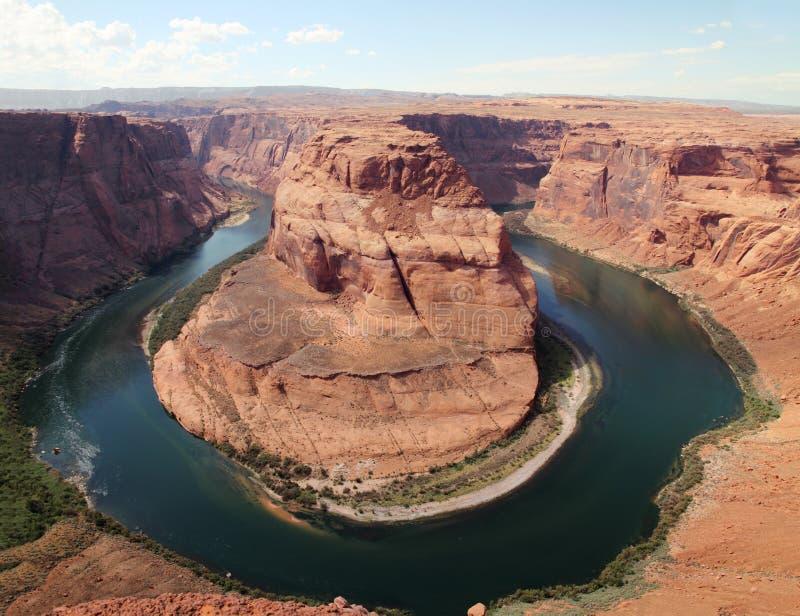 Hufeisenschlaufe in der Seite, Arizona lizenzfreies stockfoto