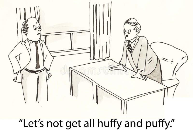 Huff e soffio illustrazione di stock