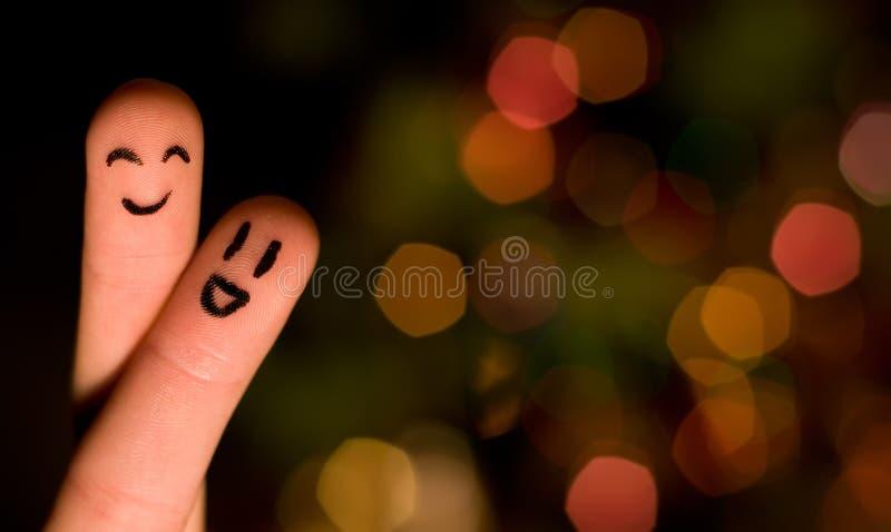 Hug 3 do dedo fotografia de stock