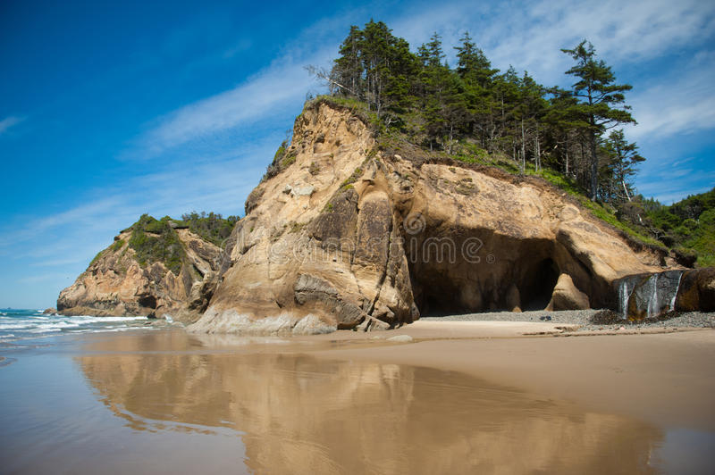 Hug Point State Park in Oregon stock photos