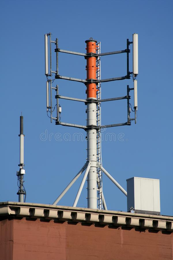 Huge Antenna On A Roof Stock Photo Image Of Wireless
