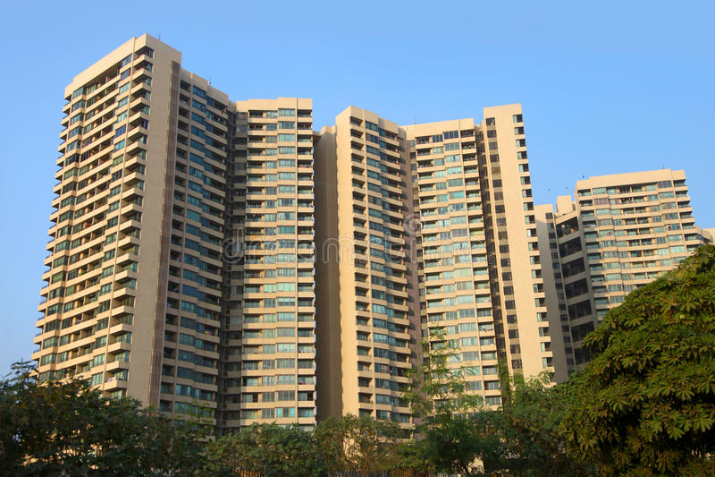 Huge apartment complex stock image