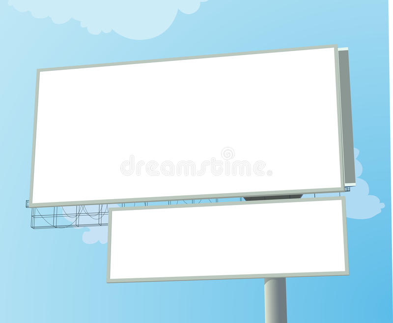 Download Huge Billboard stock vector. Illustration of poster, canvas - 9427865