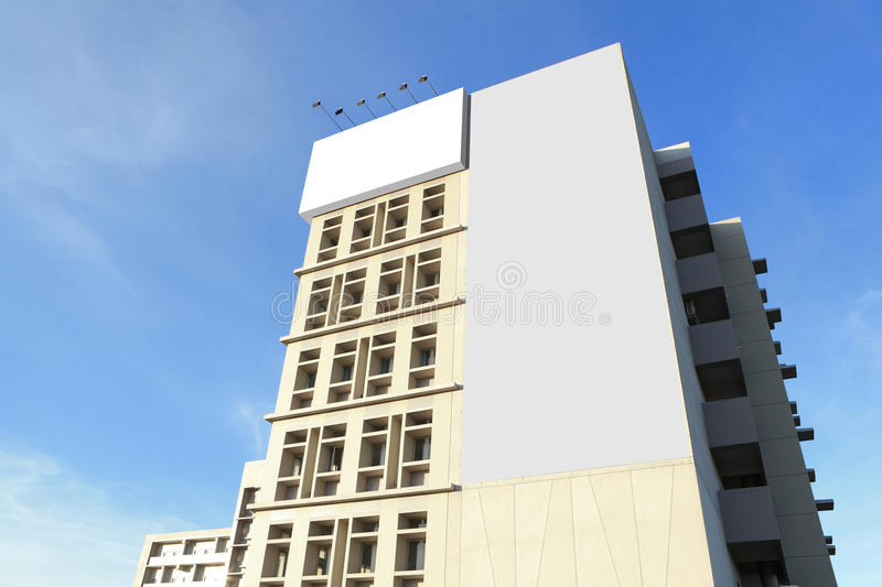 Huge Blank Billboard With Copy Space Stock Photography